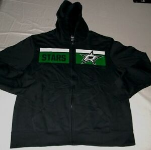Dallas Stars Full Zip Hoodie Youth Large Jacket Vibrant Team Colors Majestic NHL