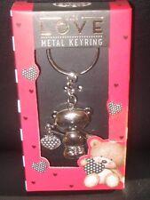 KEY RING -METAL BEAR- WTH LOVE - NEW