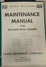 Clark Forklift Maintenance Manual All Powrworkers Except RSTF