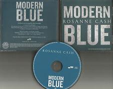 ROSANNE CASH Modern Blue RARE 2013 USA PROMO Radio DJ CD single w/PRINTED LYRICS