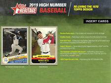 2019 Topps Heritage High Number Short Print Base Card You Pick Finish Your Set