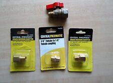 New listing Four Central Pneumatic Brass Fittings New in Package