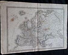 Carte générale de L'Europe par BEAUPRE XIX siècle