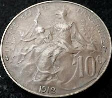 1912 FRANCE 10 CENTIMES COIN