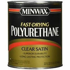 Minwax 63010444 Fast Drying Polyurethane Clear Finish, quart, Satin