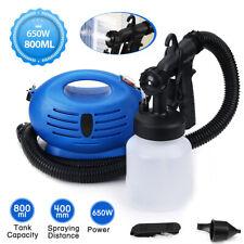 New Electric HVLP Paint Sprayer Gun Spray Pattern 800mL 3-ways Nozzle for Home