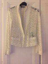 The Kooples Ivory Cream Floral Lace Jacket Blazer - Size Small 6 8