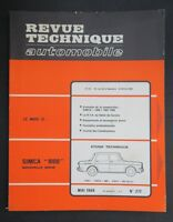 REVUE TECHNIQUE AUTOMOBILE RTA SIMCA 1000 n°277