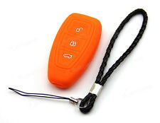 Orange Silicone Case Cover For Ford Fiesta CMax Titanium Mendeo Remote Smart Key