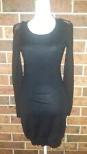 WITCHERY Black Light Wool Knit DRESS Size S