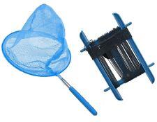 Kids Extendable Telescopic Fishing Butterfly Net  & Crab Crabbing Line - BLUE