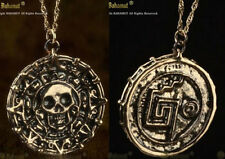 Film Pirates of The Caribbean Aztec Coin Medallion Skull Charm Necklace Pendant