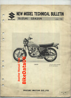 Suzuki GS425E-N (1979 >) Genuine New Model Technical Bulletin GS 425 E DOHC BV89