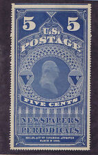 Scott# Pr8 Unused 5 Cent Newspaper Periodical Stamp, 1881, Pf Cert!
