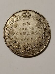 1936 Canada 50 Cents Silver Half Dollar