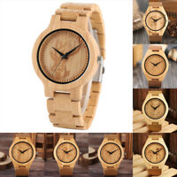 Animal Pattern Wooden Watch Bamboo Wirstwatch Bracelet Leather/Wood Watches Gift