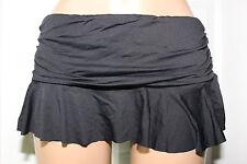 NEW Ralph Lauren LR6GA92 Black Solid Swimwear Ruffle Skirted Bottom size 14