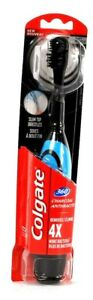 1 Ct Colgate 360 Charcoal Slim Tip Soft Bristles Battery Powered Toothbrush