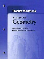 Holt McDougal Larson Geometry: Practice Workbook, MCDOUGAL LITTEL, New Book