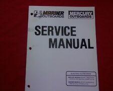 Mercury Mariner RC DM & TM Electric Outboard Motor Workshop manual Repair Book