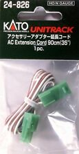 "Kato N 24-826 Unitrack Ac Extension Cord 35"" New!"
