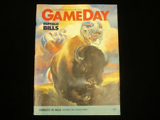 November 6, 1983 Pro! NFL Gameday Magazine Buffalo Bills vs. NE Patriots EX+