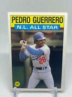 Pedro Guerrero #706 Topps 1986 Baseball Card (Los Angeles Dodgers)