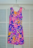 NWT $178 LILLY PULITZER Courtney Shift Dress Brilliant Blue Catch and Release 4
