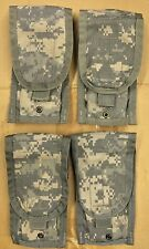 Lot of 4 - US Military Army ACU Molle II M-Series Double Mag Ammo Pouches EUC