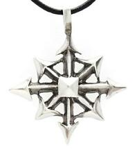 30I Silver PEWTER Magic CHAOS STAR Pendant NECKLACE