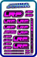 LRP ELECTRIC ESC MOTOR BATTERY LIPO STICKER DECALS RC CAR DRIFT PINK BLACK AE