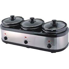 Edelstahl Slow Cooker 3 x 2,5 Liter mit Warmhaltefunktion