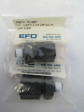 EFD #7610BP 1/8NPTM X 3/8 COMP. BLK.PP FITTING-LOT OF 2