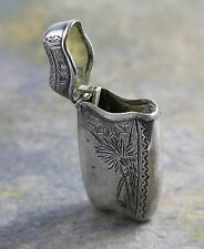 Classic Sterling Silver Sunflower Etched Match/Lighter Holder