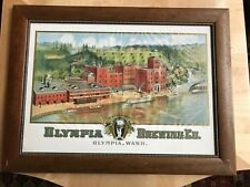 Vintage Olympia Brewing Co. Factory Brewery Advertising Framed Poster Beer Rare
