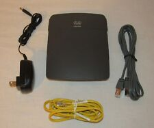 CISCO LINKSYS E800 WIRELESS ROUTER AC Adapter Network Cables Bundle
