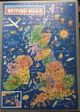 Vintage JR JIGSAW PUZZLE MAP- BRITISH ISLES (500pcs) VGC. Complete.See Photos