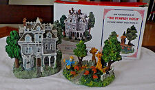"""LIBERTY FALL~HAUNTED HOUSE~PUMPKIN PATCH"""" AH227~WEST CHRISTMAS SNOW VILLAGE FIG"""