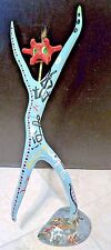 1970's Deer Antler art ~ By E.A. Read ~ Hand Painted & Decorated Sculpture