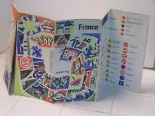"""Vintage Road Country Map France 22"""" x 24"""" Heavy Paper from Commissariat General"""
