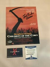JOHN FRANKLIN AUTOGRAPHED SIGNED 8X10 PHOTO! CHILDREN OF THE CORN! BECKETT!