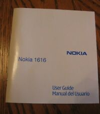 Nokia 1616 Cell Phone User Guide ~ NEW