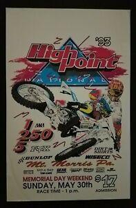 Vintage High Point Nationals 1993 AMA Motocross Poster Damon Bradshaw Yamaha YZ