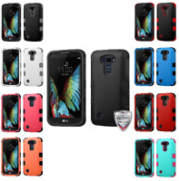 For LG Premier LTE K10 Natural TUFF Rugged Hybrid Phone Protector Cover Case