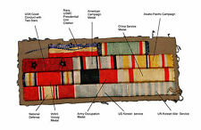 WWII Korean War Theater Made Cloth Ribbon Set - 11 Ribbons [29893]