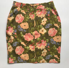 Prisma mini gonna vintage retro minigonna sexy fiori 40 42 skirt studs T701