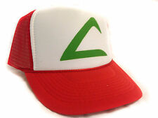 POKEMON ASH KETCHUM Cartoon Hat Trucker Hat mesh hat snap back hat red
