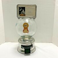 Ford Gumball Machine 1 Or 10 Cent Vintage Glass Globe With Topper, Lock/ Key.