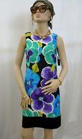 AB Studio  Women's  sleeveless  career dress , multi- color  floral  Sz 6 NWT