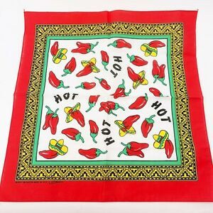 Vintage Red Hot Chili Peppers Chilis Bandana Made in USA #14193